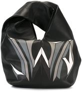 J.W.Anderson logo print hobo tote - women - Calf Leather - One Size