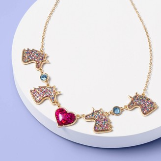 Girl' Glitter Unicorn Necklace - More Than MagicTM