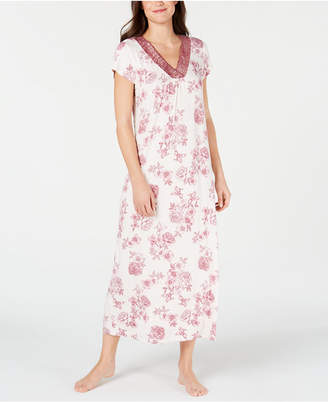 Charter Club Super Soft Knit Floral-Print Nightgown
