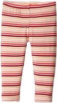 Kickee Pants Print Leggings (Baby) - Girl Forest Stripe - New Born