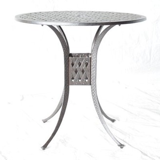 """Nola Metal Bar Table Darby Home Co Table Size: 42"""" L x 42"""" W"""