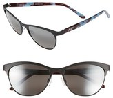 Maui Jim Women's 'Popoki' 54Mm Polarized Sunglasses - Satin Black/ Neutral Grey