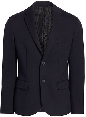 Emporio Armani Double Jersey Single-Breasted Soft Jacket
