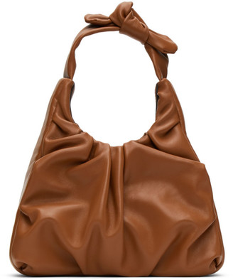 STAUD Tan Leather Palm Bag