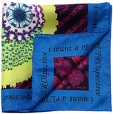 Etro Skull Printed Silk Satin Pocket Square