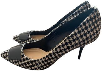 Christian Dior Black Tweed Heels