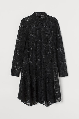 H&M Lace stand-up collar dress