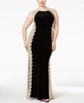 Xscape Evenings Plus Size Crochet Lace Column Gown