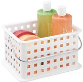 mDesign Bathroom Vanity Organizer Basket for Health and Beauty Products, Lotion - White