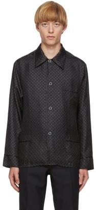 Maison Margiela Navy Silk Slim-Fit Shirt
