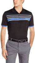 Izod Men's Short Sleeve Tip Top Engineered Stripe Golf Polo