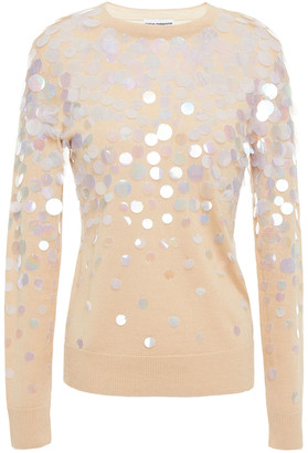 Paco Rabanne Sequin-embellished Merino Wool And Silk-blend Sweater