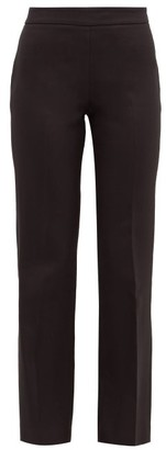 Giambattista Valli High-rise Cotton-blend Crepe Trousers - Black