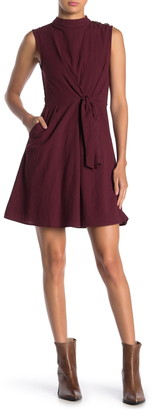 Everly Front Tie Solid Woven Dress