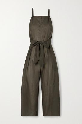Skin Brisa Tie-front Cotton-voile Jumpsuit