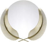 Ghidini 1961 - Round Sunset Mirror with Palm Leaves - Brass