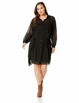 City Chic Women's Apparel Women's Plus Size LACE Detailed Tunic