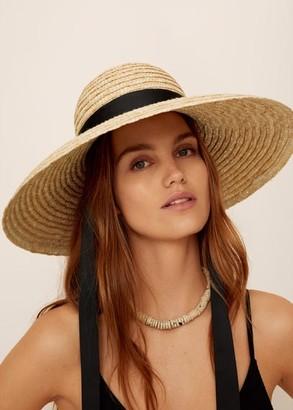 MANGO Straw hat sand - One size - Women