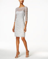 Alex Evenings Sequin Lace Illusion Sheath Dress