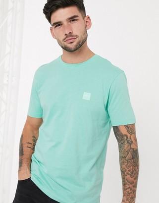 HUGO BOSS Tales box logo t-shirt in mint green