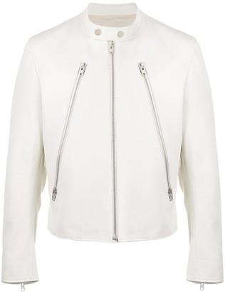 Maison Margiela zip-front leather jacket