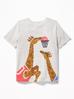 Old Navy Giraffe Basketball Graphic Tee for Toddler & Baby