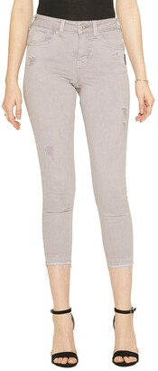 Silver Jeans Co. Women's Avery Curvy-Fit High Rise Skinny Crop Jeans