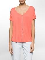 Calvin Klein Perforated Boho Short Sleeve Shirt