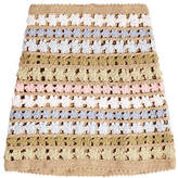 She Made Me Maala Crochet Knit Skirt