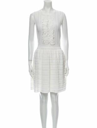 Valentino Crew Neck Mini Dress White