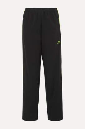 Balenciaga Striped Stretch-jersey Track Pants - Black