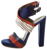 Balenciaga Satin Striped Sandals
