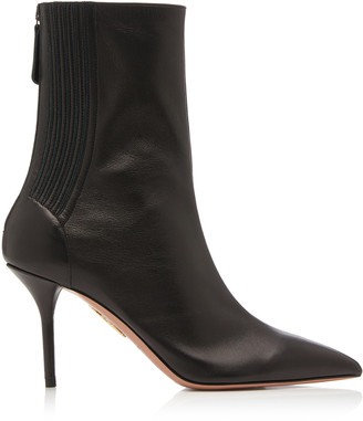 Aquazzura Saint Honore Leather Ankle Boots