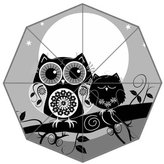 Fashion Custom Umbrella Owl and her Sleepy Baby Auto Foldable Umbrella