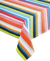 Distinctly Home Satin Stripe Oblong Tablecloth