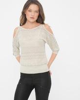 White House Black Market Cold-Shoulder Dolman Sweater