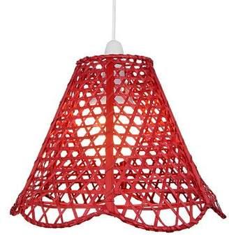 Lighting Web Company Scalloped French Cane Pyramid Shade, Red