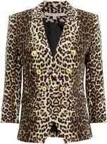 Veronica Beard Leopard Empire Dickey Jacket