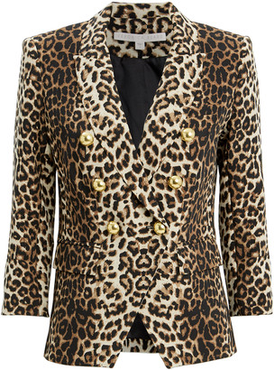 Veronica Beard Leopard Empire Dickey Jacket