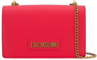Love Moschino Faux Leather Logo Shoulder Bag