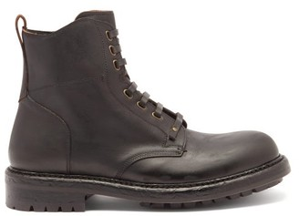 Dolce & Gabbana Bernini Distressed-sole Leather Boots - Black