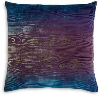 "Woodgrain Velvet Decorative Pillow, 18"" x 18"""