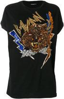 Balmain - sequin embellished T-shirt