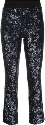 Kiki de Montparnasse Cropped Sequinned Trousers