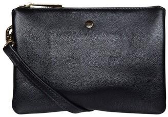 Mocha Stella Double Leather Crossbody Bag - Black