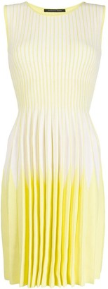 Antonino Valenti Striped Ombre Pleated Day Dress