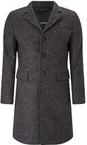 J. Lindeberg J. Linderberg Wolger Classic Wool Coat, Black/grey