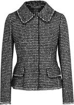 Dolce & Gabbana Houndstooth Tweed Jacket - Black