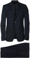 Givenchy stitch detail two-piece suit - men - Cotton/Polyamide/Acetate/Metallic Fibre - 46