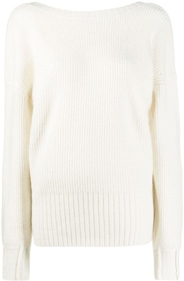 Patrizia Pepe Oversized Long Sleeve Sweater